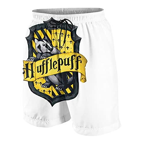 FDGJNB Pantalones cortos de natación para hombre, impermeables, clásicos, con bolsillos para playa, bañarse, deportes, moda