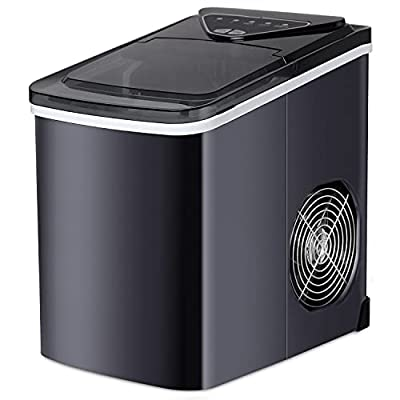 SOUKOO Ice Maker 26 lb/24h Portable Ice Maker Ice Cube Maker with Self-cleaning(Black)…
