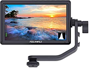 FEELWORLD FW568 5.5 inch DSLR Camera Field Monitor Video Peaking Focus Assist Small Full HD 1920x1080 IPS with 4K HDMI 8.4V DC Input Output Include Tilt Arm