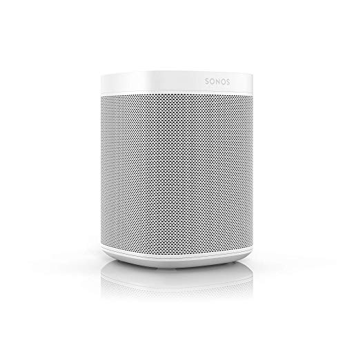Sonos One - Lo smart speaker controllato con la voce (Assistente Google e Amazon Alexa) e con l'app Sonos, Apple AirPlay 2,  Bianco