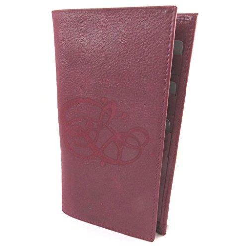 Les Trésors De Lily Les Trésors De Lily [N8916] - Halter prickelnde Leder scheckbuch 'Les Trésors De Lily' rubinrot - 19x11 cm.
