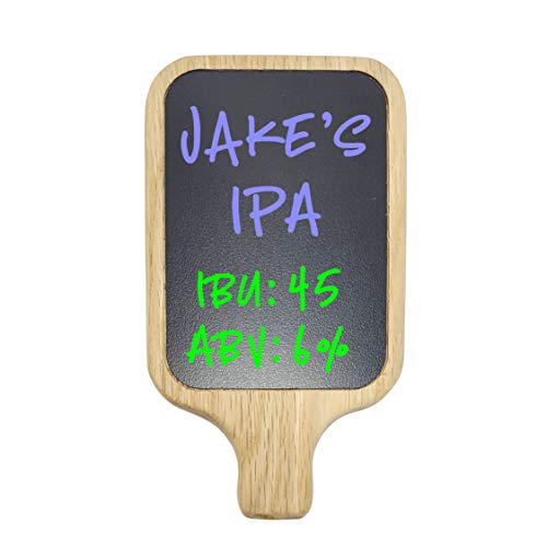Beer Tap Handle with Premium Surface Chalkboard or White Dry-Erase Marker Board. Works on all Beer Taps including Kegerator. Create your own custom tap handle.