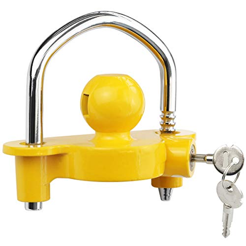 Partschoice Universal Trailer Hitch Lock Fits 1 7/8' 2' and 2-5/16' Ball Couplers Locks Replace #727283