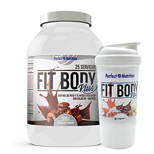 Pack: Proteine in Polvere per Dimagrire e brucia grassi, Collagene + Shaker. Formula Dimagrante forte/Sostitutivo pasti. Proteine brucia grassi velocemente. (Cioccolata, 1 Kg)