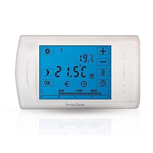 C804cronotermostato electrónico Touch Screen a baterías Fantini Cosmi