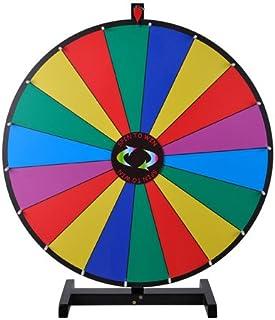 "MegaBrand 30"" 18-Segment Tabletop Color Dry Erase Spinning Prize Wheel"