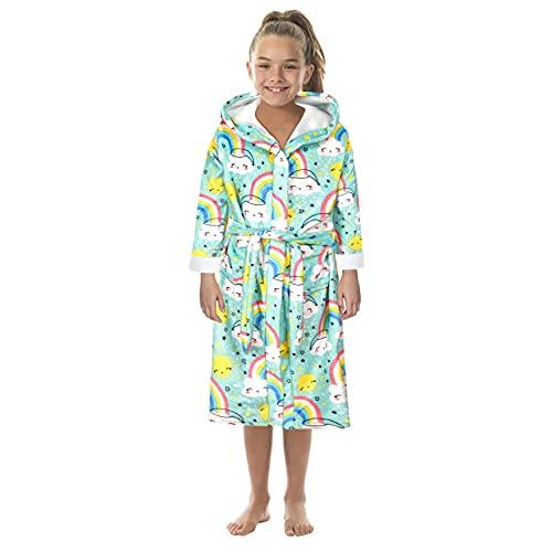 Trailrest Albornoz niños niñas con Capucha Batas niño Suave Pijamas Ropa de Dormir niños Albornoz con capucha camisón, toalla de baño pijamas Baño robe Cómoda ropa de dormir linda bata de baño