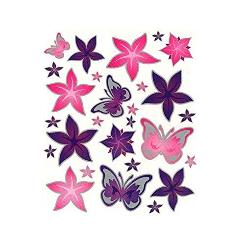 Fahrrad Rahmenaufkleber Rahmensticker Aufkleber Schmetterlinge/Blumen