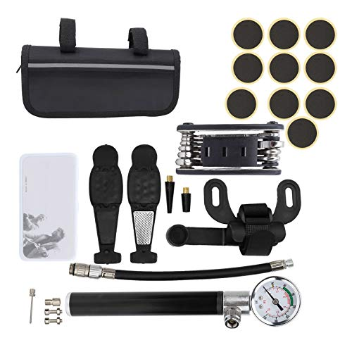 East buy - Bicycle Tool Kit - Bicycle Tool Kit Remove Tyre Repair Set Mountain Bike Repairing Bicycle Pump Barometer