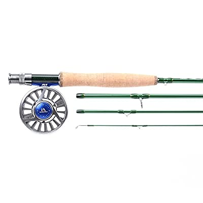 Maxcatch Premier Fly Fishing Rod with Avid fly reel (includes rod case) 3/4,5/6,7/8wt Fly Rod and Reel Combo by Maxcatch
