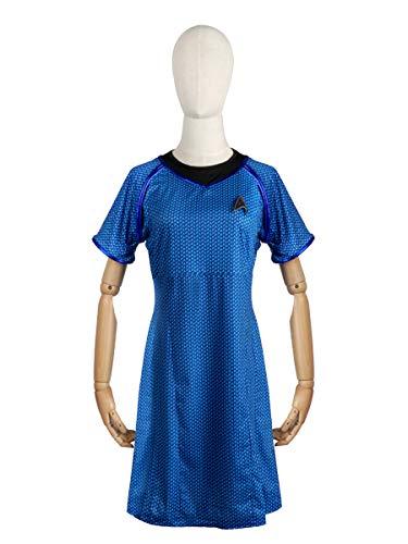 CoolChange Kostüm für Frauen | Kleid Blau | Wissenschaft / Medizin Uniform der Sternenflotte | Größen: L