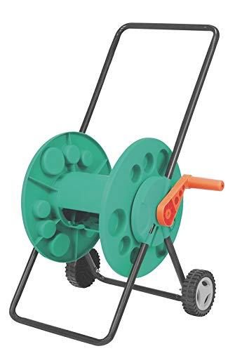Enrolador de mangueira 1/2' até 55 metros, com rodinhas