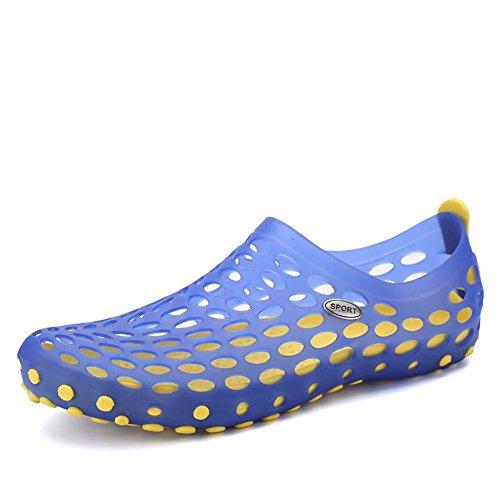 Ys-s Moda Mujeres Y Hombres Paseo Exterior DE LOS Hombres Sandals Sandals Hollow Vamp Agua DE Agua DE TAMAÑO 45EU Cómodo y Ligero (Color : Blue, Size : 36EU)