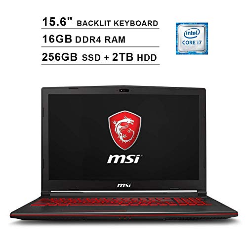 2019 Newest MSI GL63 15.6 Inch FHD Gaming Laptop (8th Gen Inter 6-Core i7-8750H up to 4.1GHz, 16GB DDR4 RAM,...