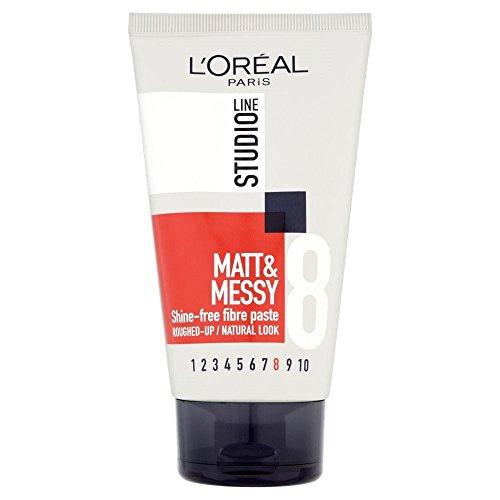 L'Oréal Paris Studio Line Matte & Messy Pâte Rough Paste (150 ml) - Lot de 2