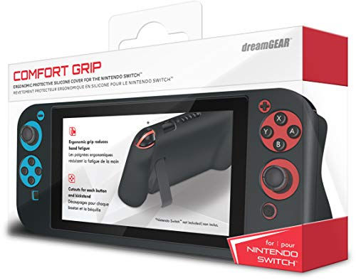 dreamGEAR Comfort Grip for Nintendo Switch – An Ultra-Soft Ergonomic Silicone Case for Comfort and Extreme Protection Against Dust, Dirt, and Fingerprints