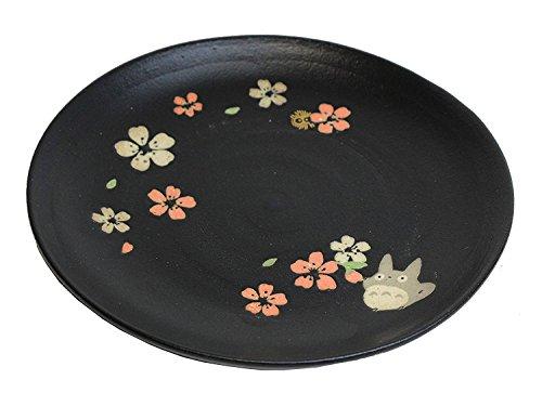 Skater Mon Voisin Totoro Mino Yaki Japonais Assiette 18 cm en céramique Noir (308888) Chmd3