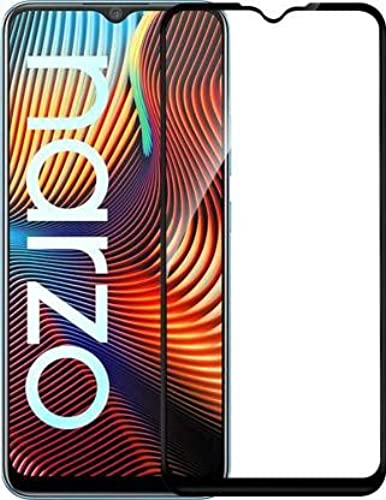 VIMES Realme Narzo 20 20 A 11D 6D Tempered Glass Edge to Edge Full screen coverage 11D 6D Screen Protector forRealme Narzo 20 20 A with Easy Installation Kit Black