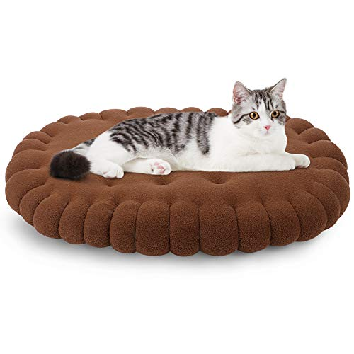 G.C Cat Mat Bed Crate Mattress for Kitten Puppy Small Dogs Blanket Pillow Washable Pet Bed Cushion Self Warming Cat Sofa, Size 60x44cm (Brown)
