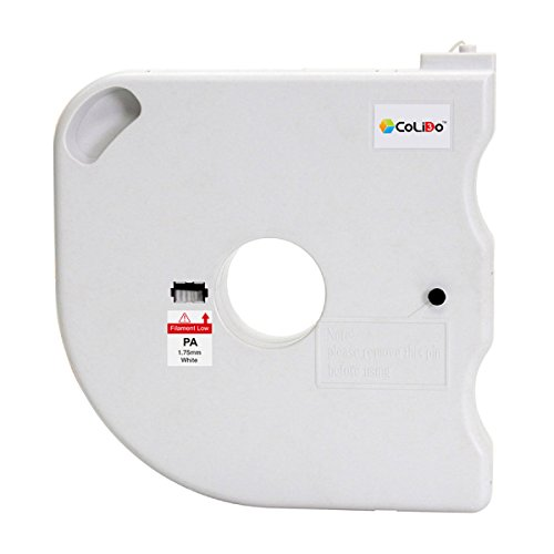 print-rite-europe LCD032W 3D Printer Filament Spool, PA (Nylon), 1.75 mm doorsnee, 460 g, Wit