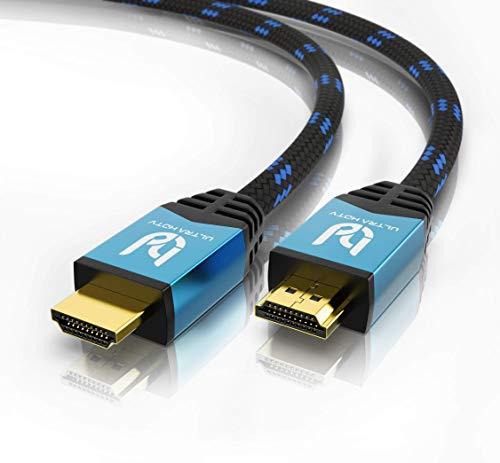 Ultra HDTV 4K HDMI Kabel - 2 Meter, 18 GBit/s High Speed HDMI 2.0b, HDMI Premium Zertifikat, 4K@60Hz (ruckelfrei), Auflösung bis 2160p 4096x2160, HDR10+, 3D, ARC, Dolby Vision