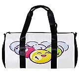 Bolsa de deporte redonda con correa de hombro desmontable de color bolas de piscina de entrenamiento bolso de noche para mujeres y hombres