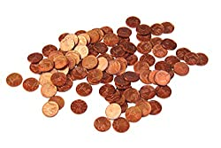 WISSNER aktiv lernen - Euro Spielgeld zum Rechnen 100 x 1 Cent Münzen