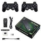 Consola de Juegos Retro, Consolas de Videojuegos HD-MI 4K TV con Game Wireless Joystick Controller, Construido en 10000+ Juegos, 64GB Classic Gaming Consoles para GBA/GBC/MD/SFC / PS1 / FC/GB