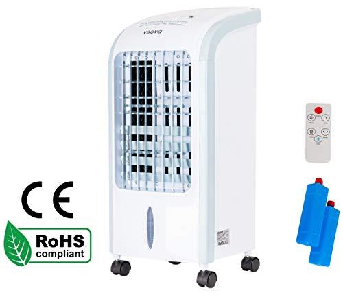 Air Cooler ECO Condizionatore portatile con funzione deumidificatore, 3 in 1, refrigeratore, deumidificatore e purificatore d'aria climatizzatore mobile con timer e telecomando ottimale fino a 50 m2