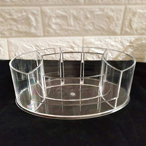 Yousiju Caja de Almacenamiento de cosméticos de acrílico Organizador de brochas de Maquillaje TransparenteCaja de plástico Accesorios de baño Soporte de lápiz para exhibición de lápiz Labial