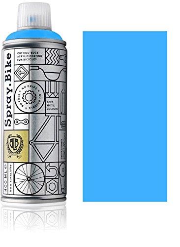 Fahrrad Lackspray in NEON Farben - KEINE GRUNDIERUNG notwendig - Acryllack/Lack Spray in 400 ml Spraydose, Matt- und Klarlack Optik möglich (Matt, Neon Blau)