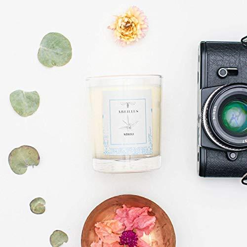 abeillus Fragrance - Bougie Parfumée Naturelle 100% Végétale - Jardin rêvé - Jardin secret - Néroli - Parfum Doux et Reposant - Fabriquée en France - 45h de Combustion - 180 g AB100301 Creamy