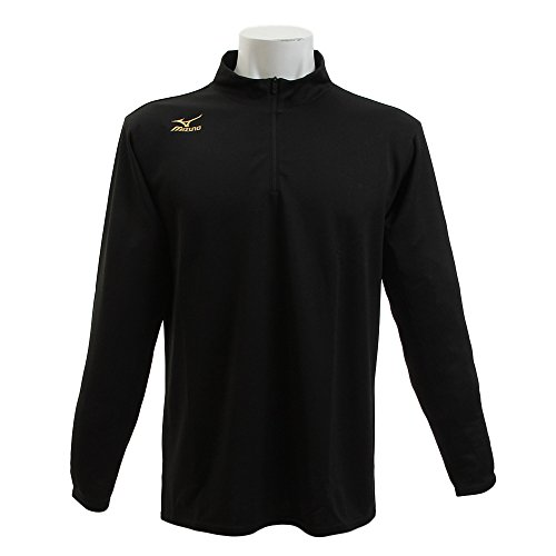 (ミズノ) MIZUNO トレーニングウェア ブレスサーモ ハーフジップシャツ (ユニセックス) 32MA6640 09 ブラッ...