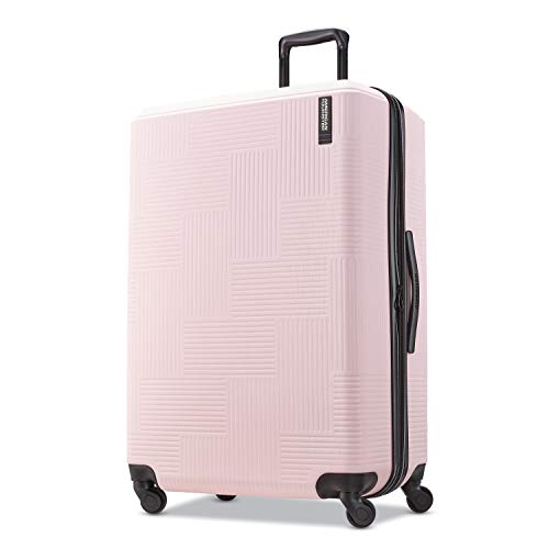 American Tourister Stratum XLT Hardside Luggage, Pink Blush, Checked-Large