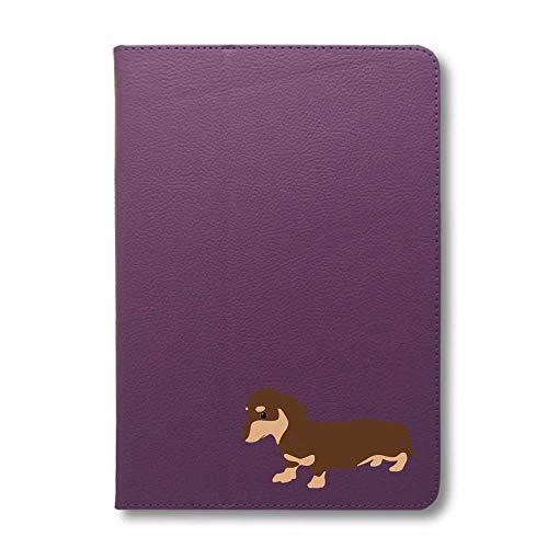 ダックスフンド チョコ&タン タブレットケース iPad 手帳型 iPad mini4 mini5 グレープ 犬 柴犬 黒柴 日本犬 ペット 動物 アニマル タブレットカバー タブレット ブック型 iPadmini4 iPadmini5 アイパッド 桃 F