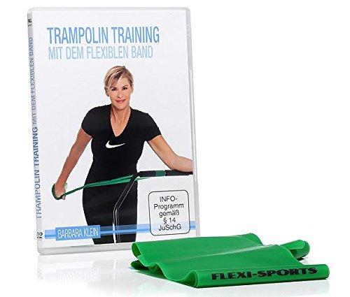 "FLEXI-SPORTS® DVD \""Trampolin Training mit dem flexiblen Band\"" inkl. Fitband (200cm)"