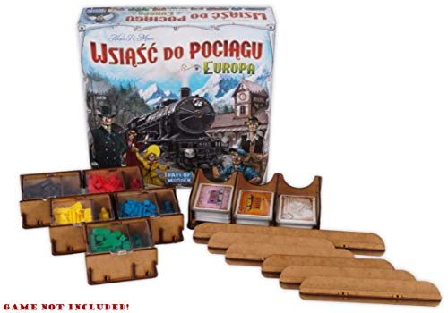 docsmagic.de Organizer Insert for Ticket to Ride Box - Inserto