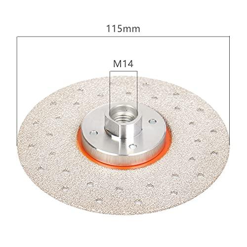 LiQinKeJi8 Muela Disco de Pulido de Diamante Soldado vacío M14 para Molinillo de ángulo Molinillo de Corte Hoja de Sierra para baldosas de cerámica de hormigón de mármol para pulir