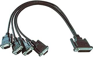 MOXA CBL-M44M9x4-50 4-Port Male DB44 to Male DB9 Connection Cable, 50cm (CP-104UL/CP-134U/CP-114UL/CP-114UL-I/CP-104EL-A/CP-114EL/CP-114EL-I)