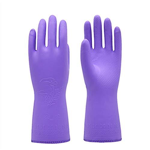 x4L Gants de Vaisselle imperméables de Protection, Doublure en Coton Moelleux Doux et Respirant, Pratique et Confortable, adapté au Lavage de Voiture et au Linge