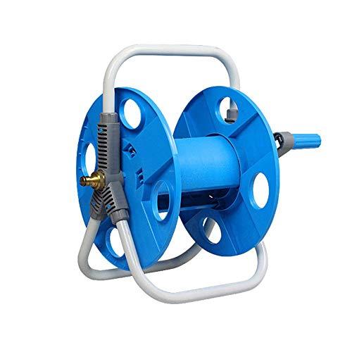 Pipe Reel zonder slang Portable tuin Outdoor Hosepipe Reel Geschikt voor waterleidingen onder 30m en buitendiameter 20mm, Blauw