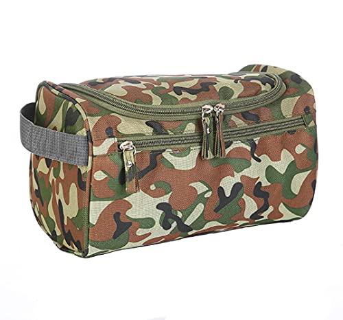ONEGenug Neceser de viaje, neceser de aseo, bolsa de aseo para colgar, bolsa de lavado, Color camuflaje.,