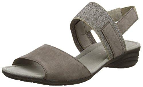 Gabor Shoes Damen Fashion Offene Sandalen mit Keilabsatz, Braun (fumo 13), 37.5 EU