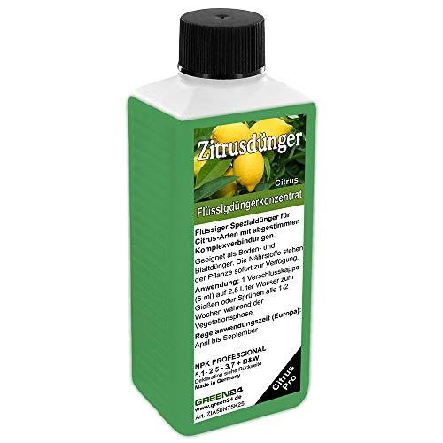 GREEN24 Zitrus Dünger Citrus düngen, Premium HIGH-TECH Flüssigdünger aus der Profi Linie, NPK Volldünger für Zitruspflanzen