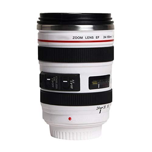 Art und Weise 1Pcs Durable DIY Edelstahl Isolierkannen-Reise-Kaffeetasse-Schale Wasser, Kaffee, Tee-Kamera-Objektiv-Schale mit Deckel Geschenk