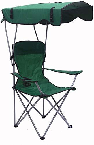 Sedia da spiaggia CWT Sedia da campeggio Zaino da campeggio all'aperto leggero portatile pieghevole tenda parasole parasole pieghevole escursione (Colore: verde)