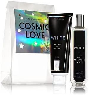Bath & Body Works WHITE COSMIC LOVE Set - Body Cream and Fine Fragrance Mist Full Size