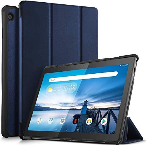 ProElite Ultra Sleek Smart Flip Case Cover for Lenovo Tab M10 HD TB-X505F TB-X505L Tablet (Navy) [Will NOT Fit TB-X650lc Model]