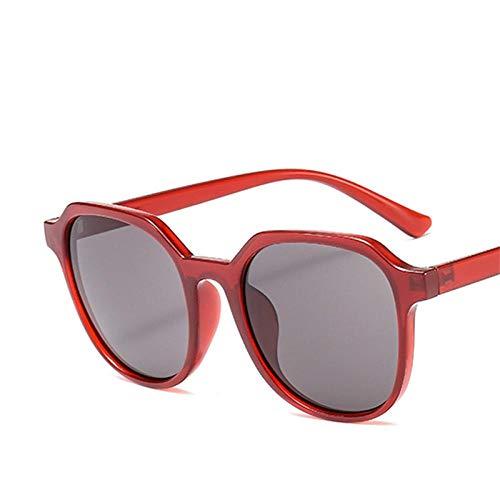 des Lunettes de Soleil Sunglasses Mode Thé Femmes Lunettes De Soleil Designer Street Beat Lunettes Hommes Vintage Shopping Uv400 Redgray