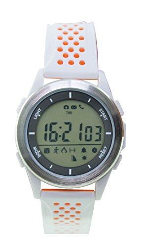 Ksix Fitness Explorer 2 - Reloj Inteligente, Monitor de Actividad física, Sumergible 30 m, Color Blanco